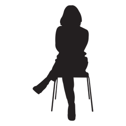 Woman Sitting On Chair Silhouette Silhouette Woman Silhouette Background Design