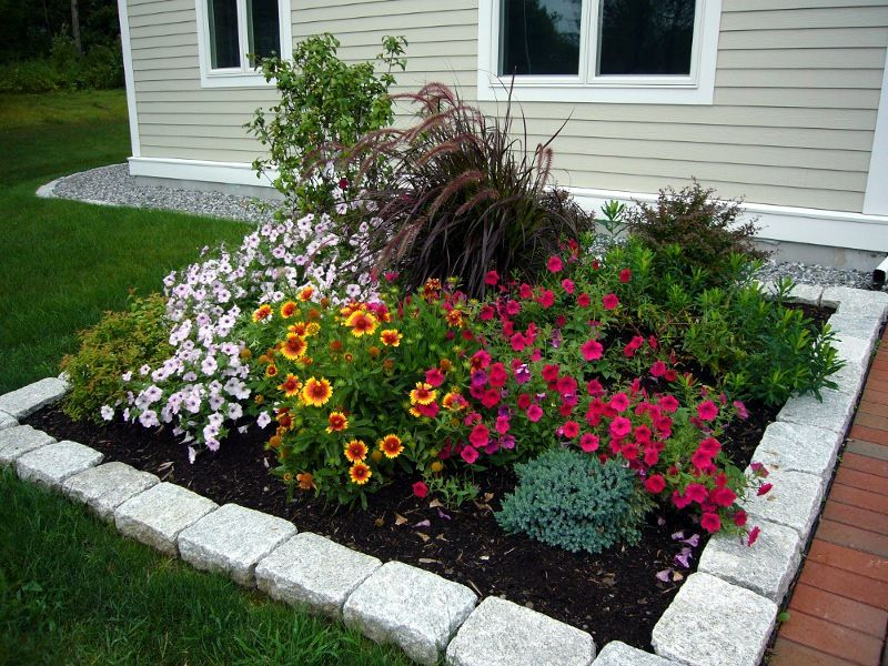 square flower bed   28 Pinebrook Drive ⋅ 9 Pleasant Wood ... on Square Backyard Design Ideas id=18681