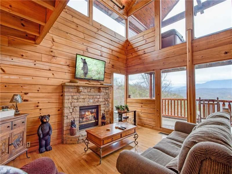 Stunning Views Inside And Out A Doubleheight Windowed Wall Lets