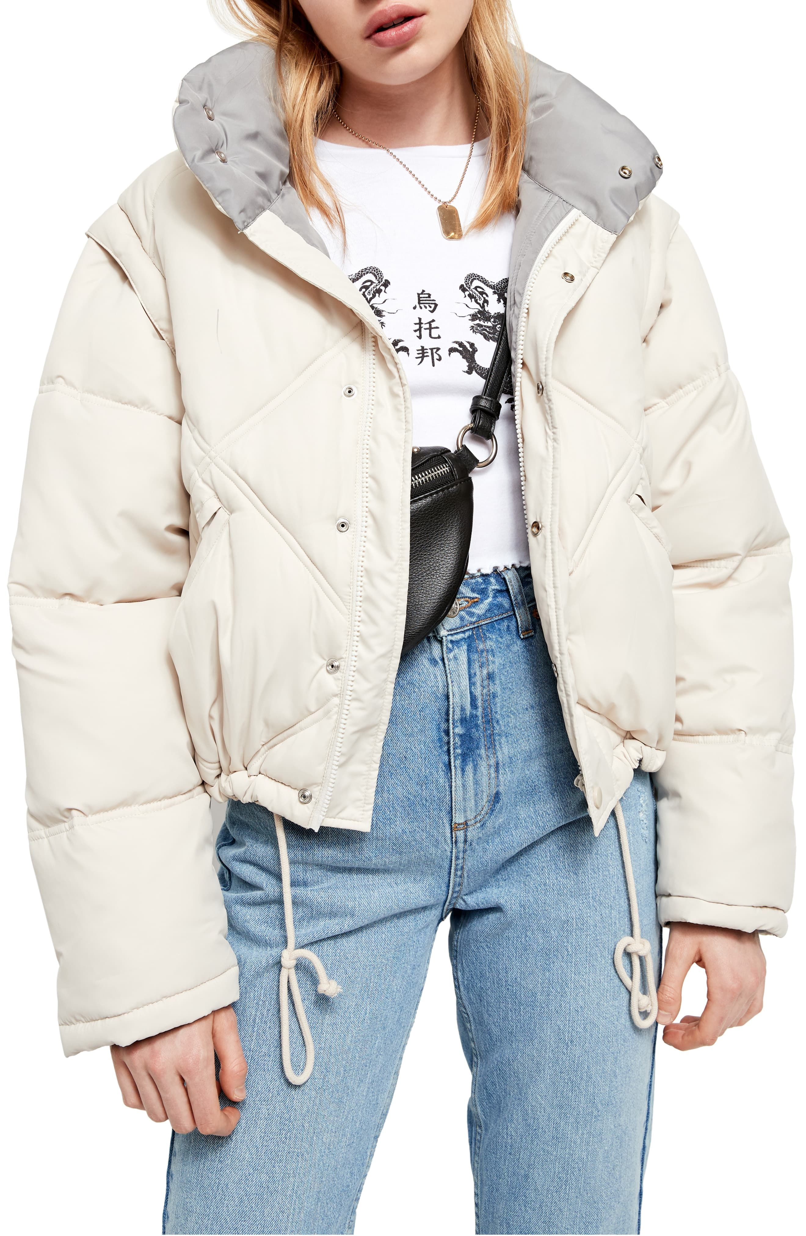 Bdg Urban Outfitters Convertible Quilted Crop Puffer Coat Nordstrom Urban Outfitters Clothes Puffer Coat Fashion Clothes Women [ 4048 x 2640 Pixel ]