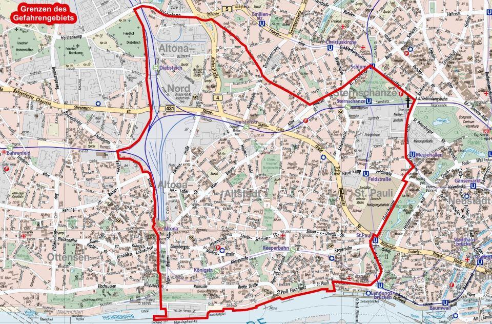 Karte Gefahrengebiet St Pauli Karten Geschenke Sankt