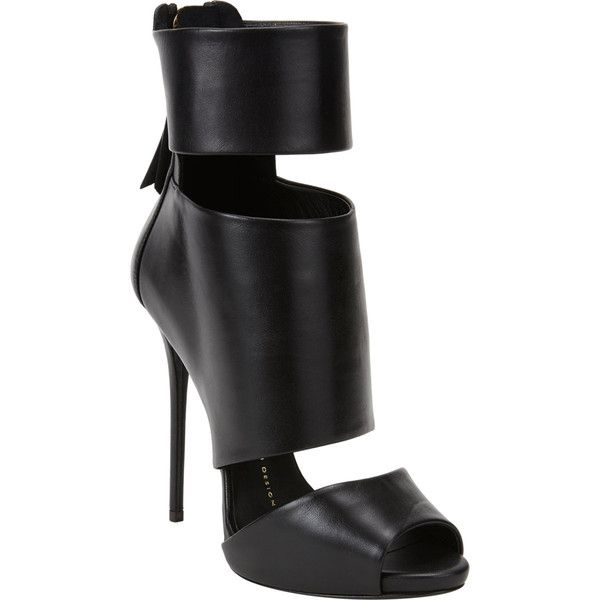 Giuseppe Zanotti Cutout Peep Toe Ankle Boots Found On Polyvore Peep Toe Ankle Boots Giuseppe Zanotti Heels Black Heel Boots