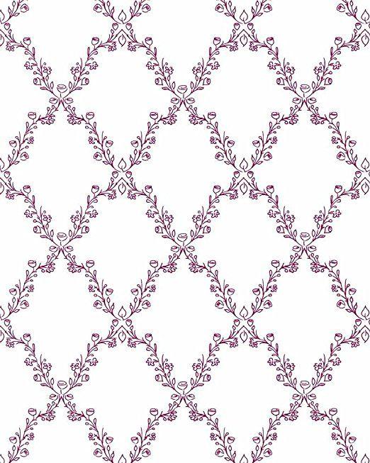 Glööckler Kindertapete Vlies Childrens Paradise 54105 Floral weiß pink