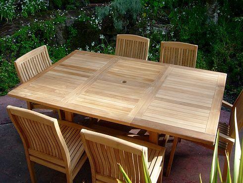 Square To Rectangle Teak Extension Table Paradise Teak
