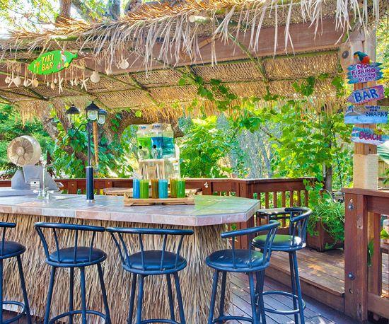 Tiki Backyard Ideas low budget outdoor spaces amazing diy outdoor bar ideas for your backyard How To Create A Tropical Tiki Backyard
