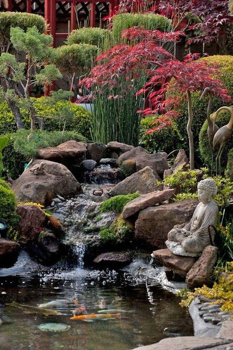 48 Fascinating Small Waterfall Garden Designs Ideas For Backyard In 2020 Waterfalls Backyard Fish Pond Gardens Backyard Water Feature