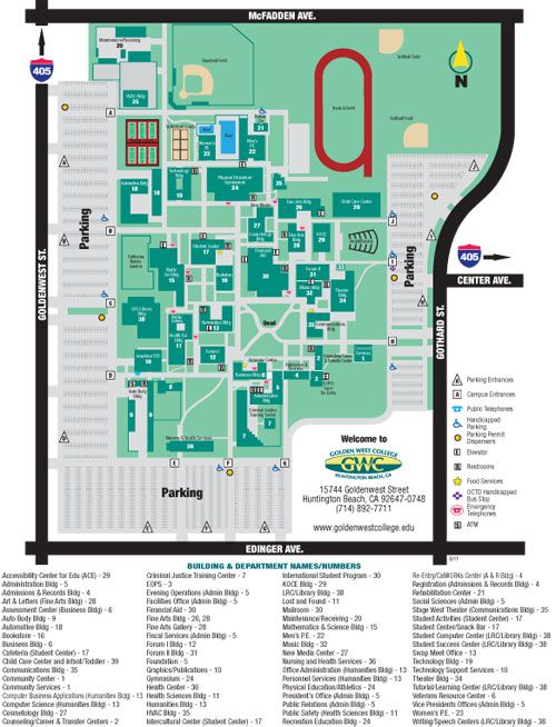 Golden West College Campus Map School