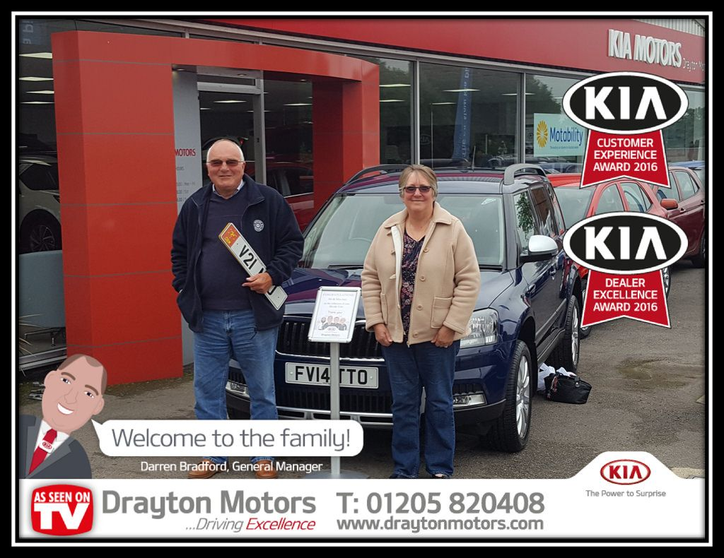 Mr Mrs Jury Collecting Their New Skoda Yeti From Nathan This Is