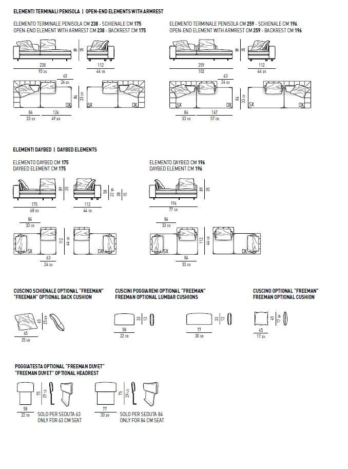 Sofa Freeman Duvet By Minotti Design Rodolfo Dordoni S沙发