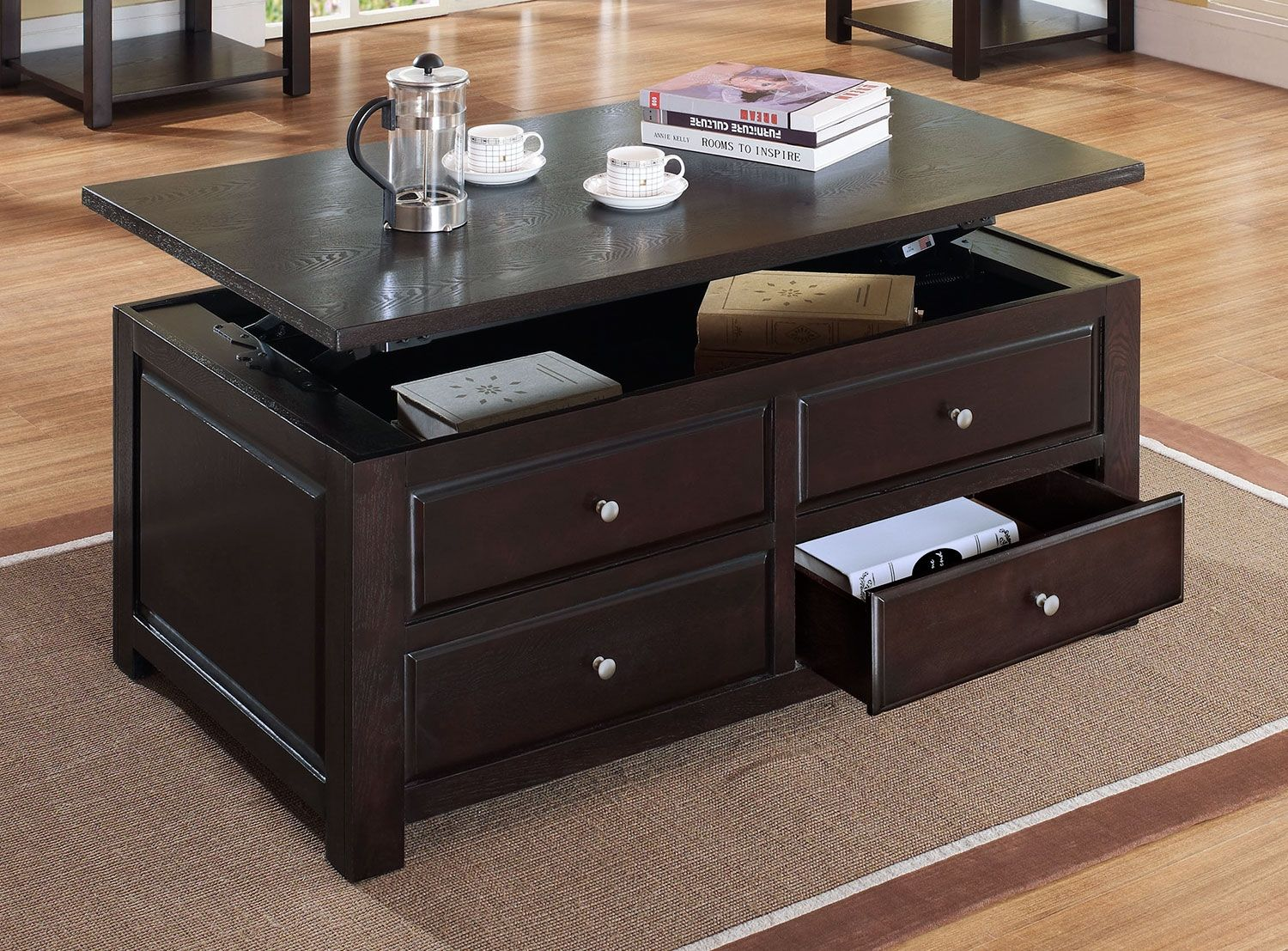 Ines Lift Top Coffee Table Leon S Coffee Table Wood Chest