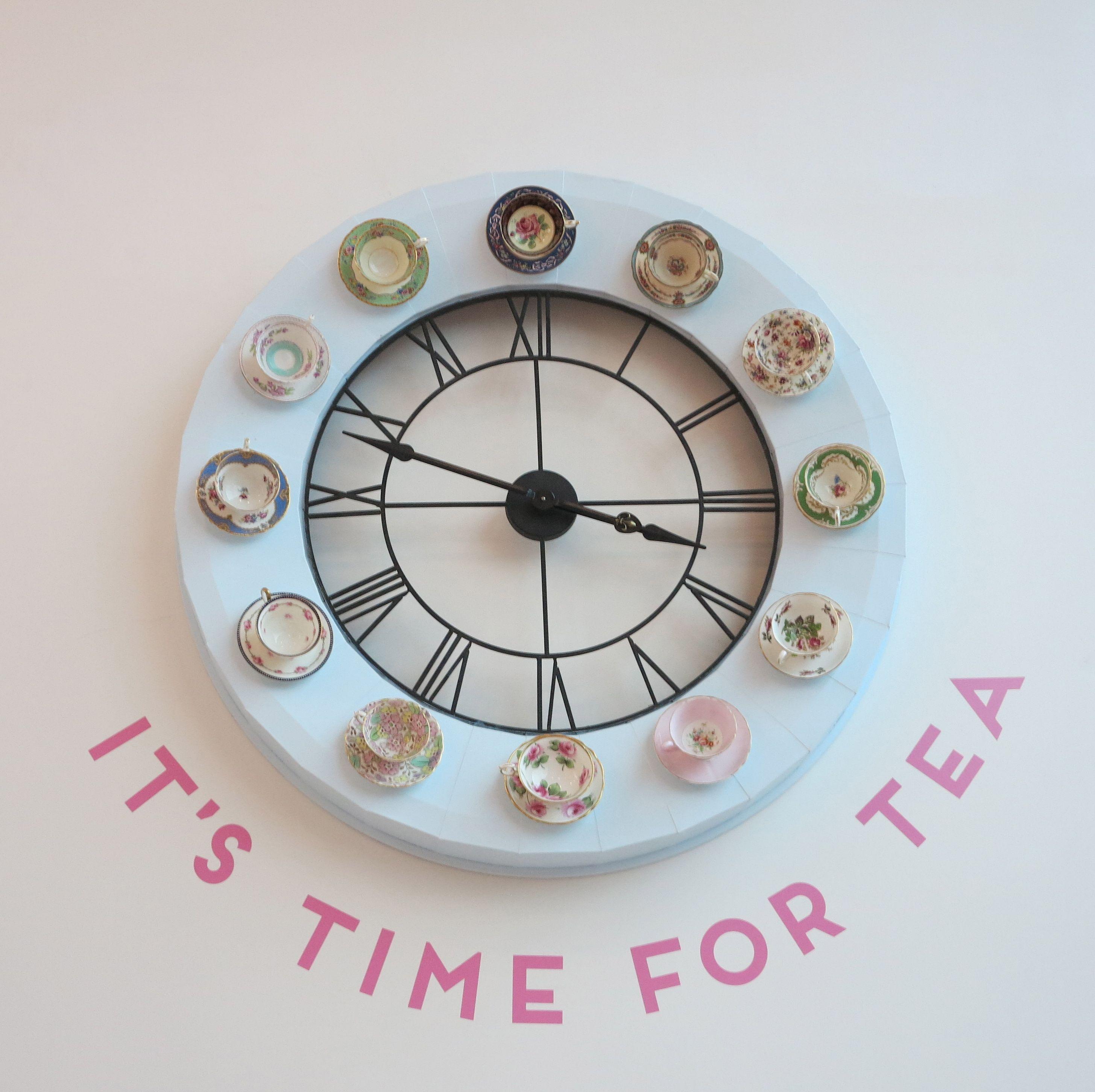 What time is it?  I just put the kettle on.