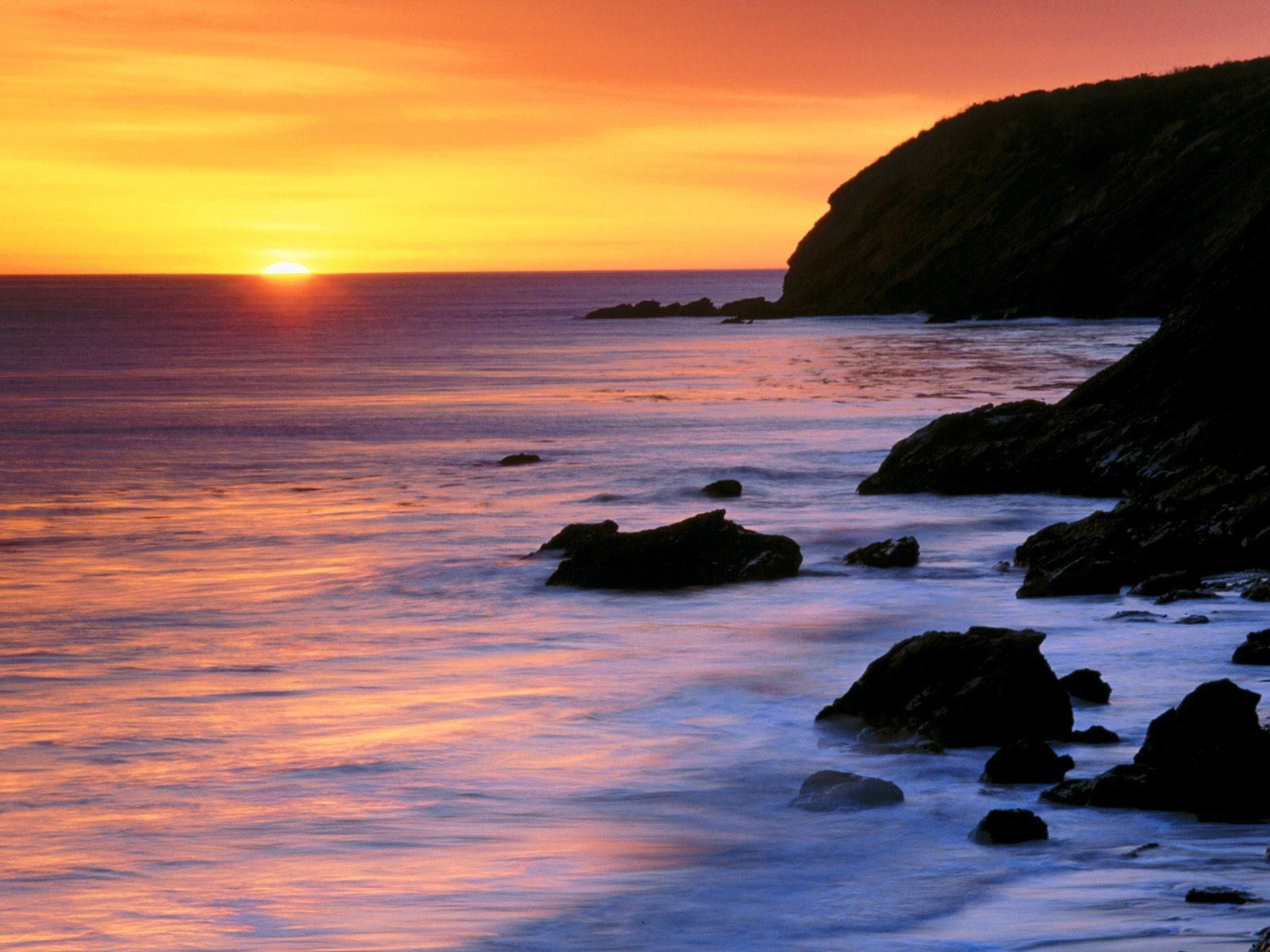 Sunset landscape pacific ocean sunset landscape free for Sfondi desktop tramonti mare