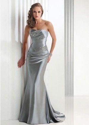 Mermaid Satin Strapless Long Formal Dresses Sydney Online Modam