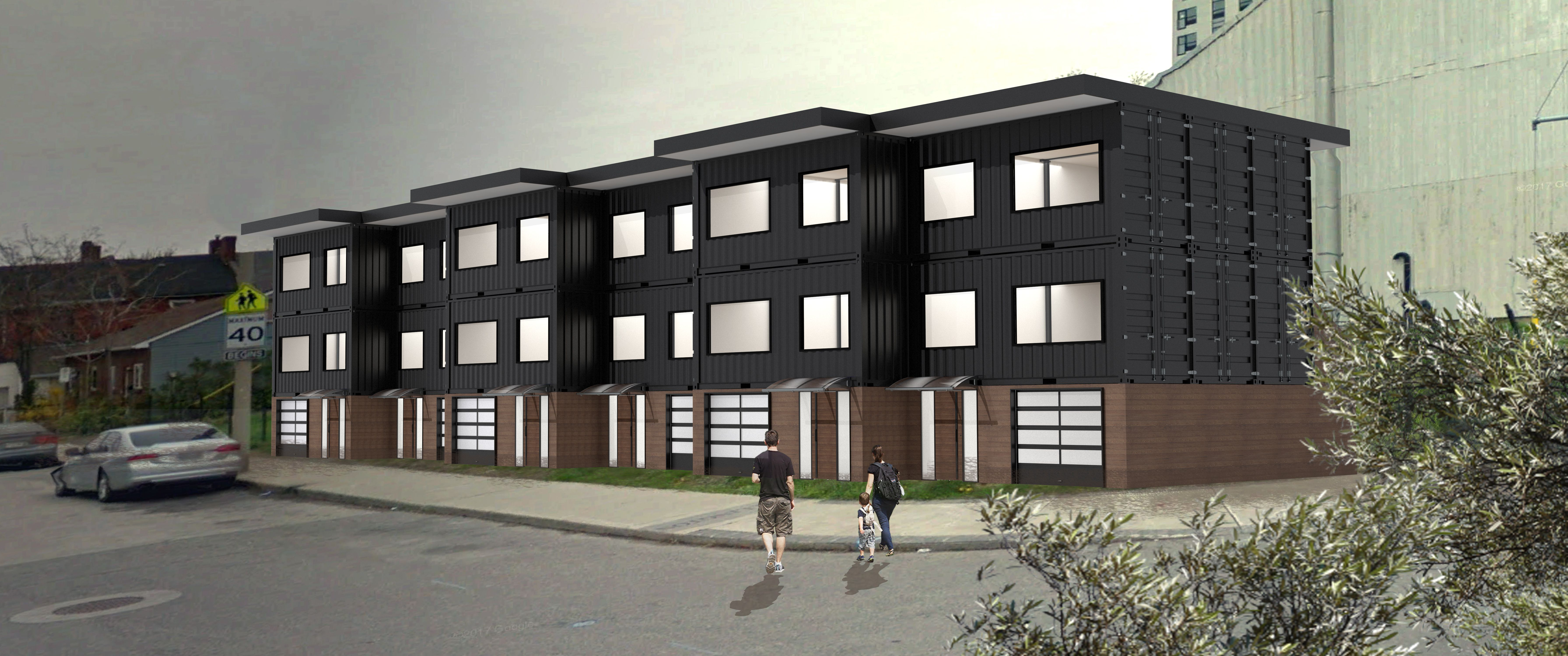 Idea For Prefabricated Shipping Container Apartment Buildings