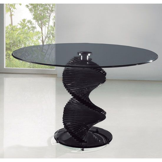 This Marvelous Swirl Smoked Glass Single Support Dining Table Is The Most Important Part Of Your