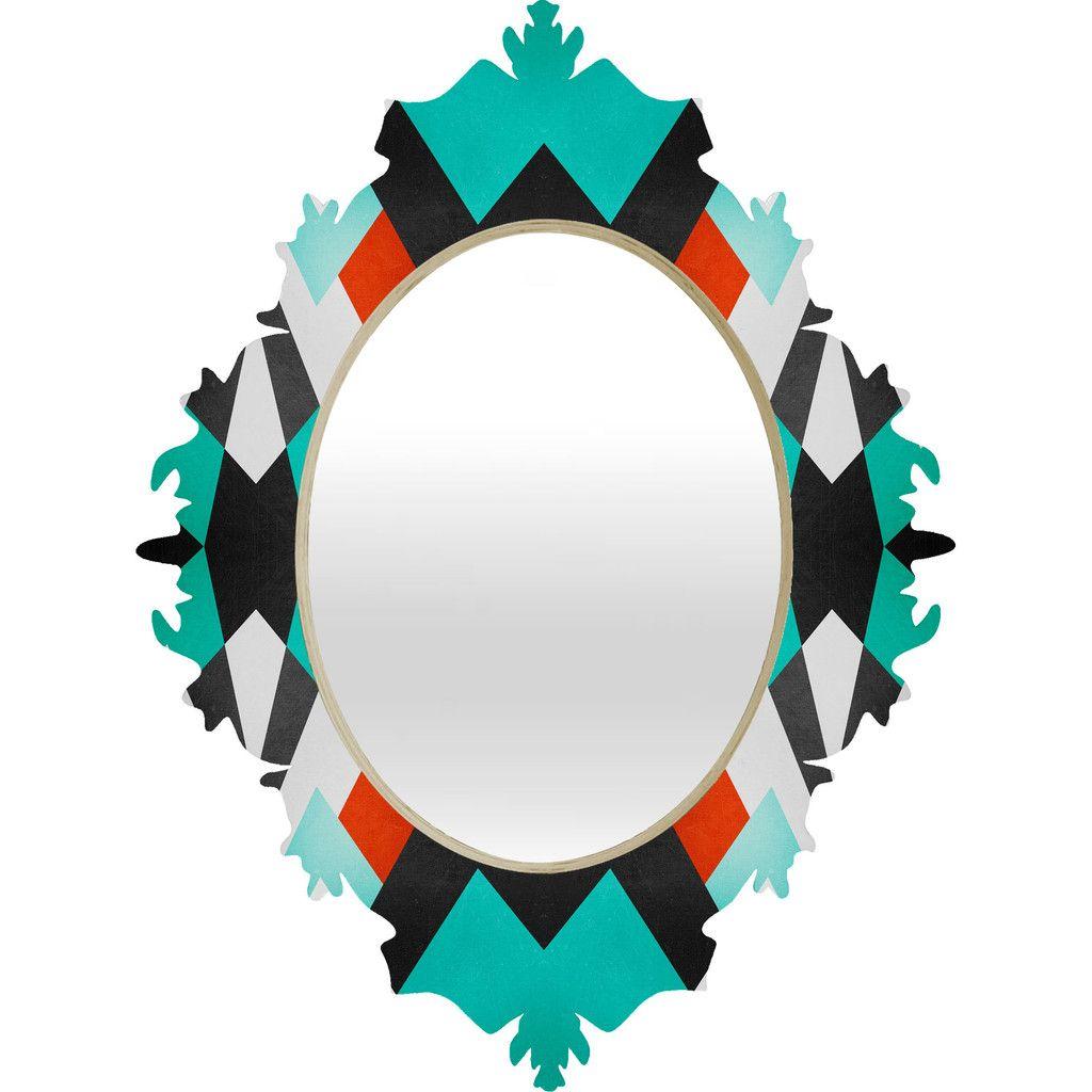 Elisabeth Fredriksson Distant Planet Pattern Baroque Mirror | DENY Designs Home Accessories