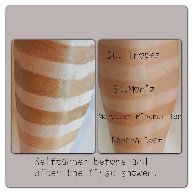 Self Tanner Reviews Side By Side Kara Metta Self Tanner Tanning Skin Care Tan Before And After