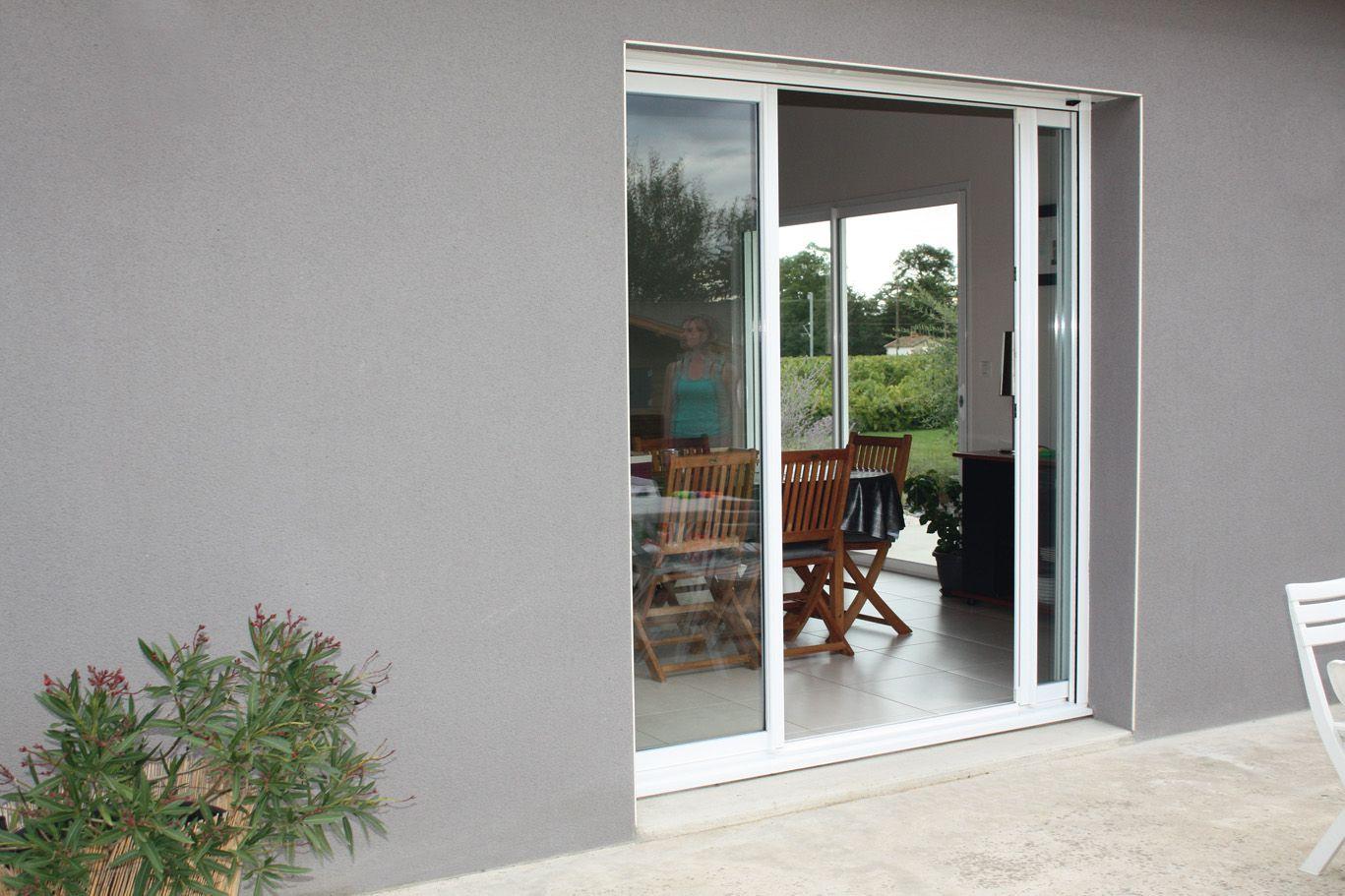 baie aluminium optimo coulissant galandage les vantaux s 39 effacent dans les cloisons ouverture. Black Bedroom Furniture Sets. Home Design Ideas