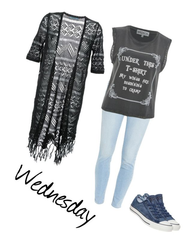 """""""Wednesday"""" by ninci-ninci on Polyvore featuring Paige Denim, Wildfox, Guild Prime and Converse"""