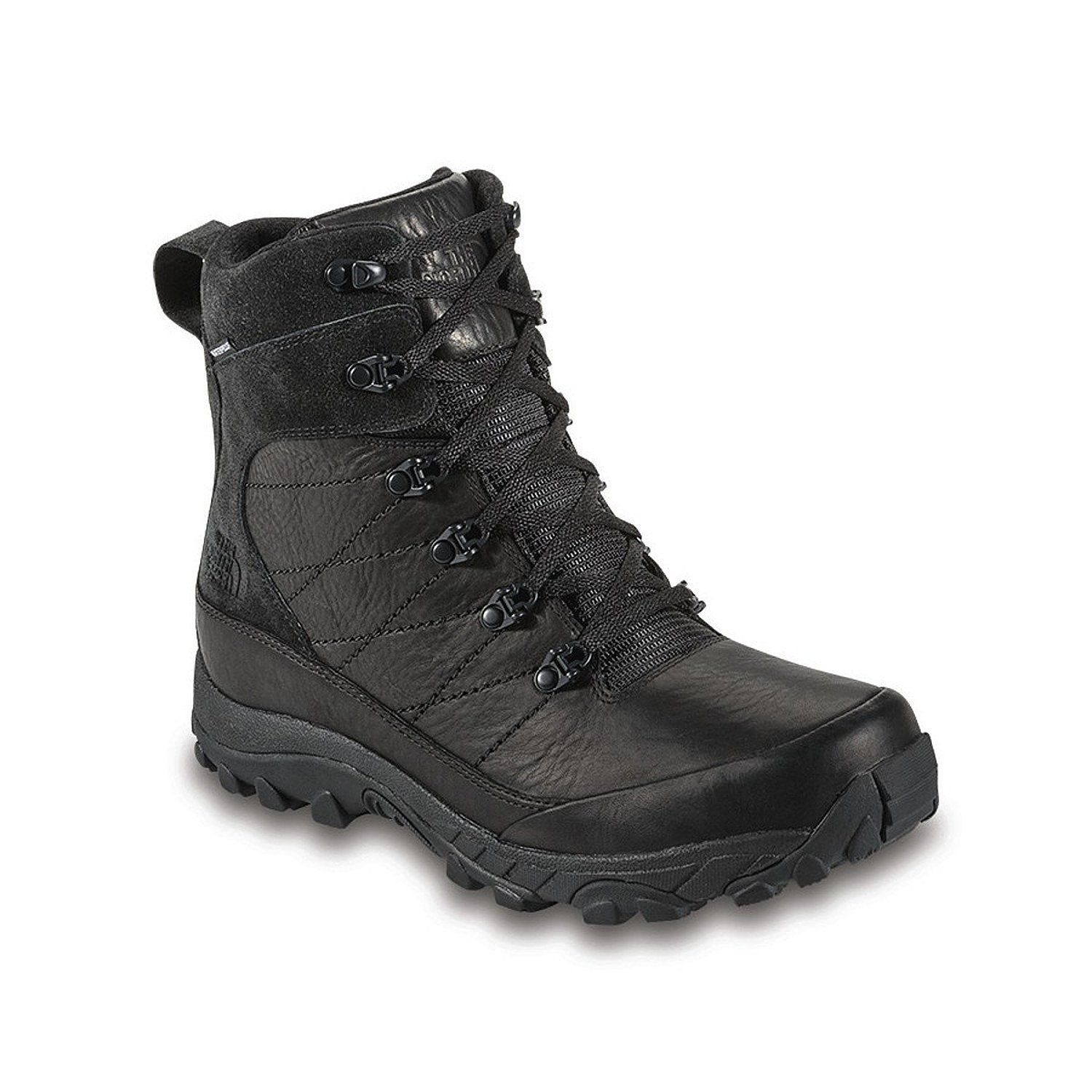 THE NORTH FACE CHILKAT LEATHER TNF BLACK/TNF BLACK MENS ALL-PURPOSE BOOTS  Size
