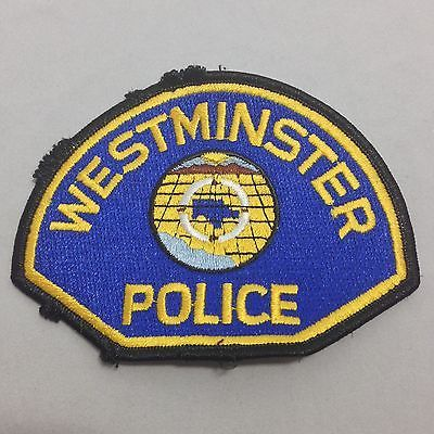 Westminster Police California Police Department Retired Patch
