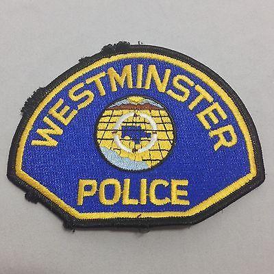Westminster Police California Police Department Retired Patch Police Patches Police Patches
