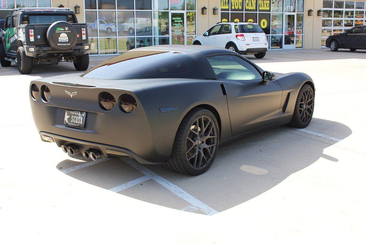 Matte Black Car Wraps Dallas Car wrap, Car