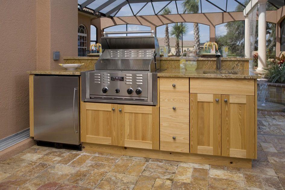 Furniture Outdoor Kitchen Design Built In Grill Stainless Steel Refrigerator Outdoor Wooden Kitche Wooden Kitchen Cabinets Built In Grill Outdoor Kitchen Sink