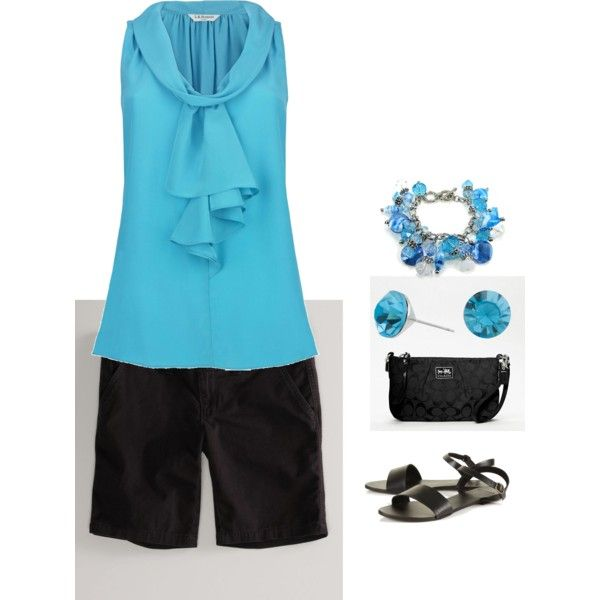 This blue is so me!  I think Polyvore may be my new addiction:)  Sunny Summer Night, created by scrappywife.polyvore.com