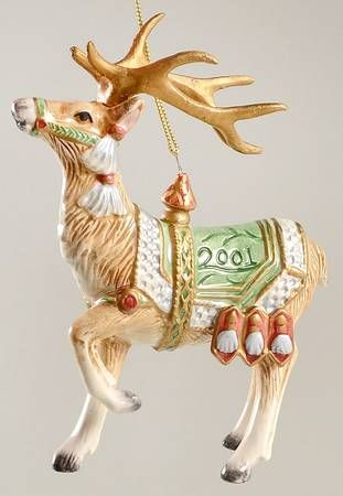 Fitz  Floyd Gregorian Collection Deer Ornament Holidays