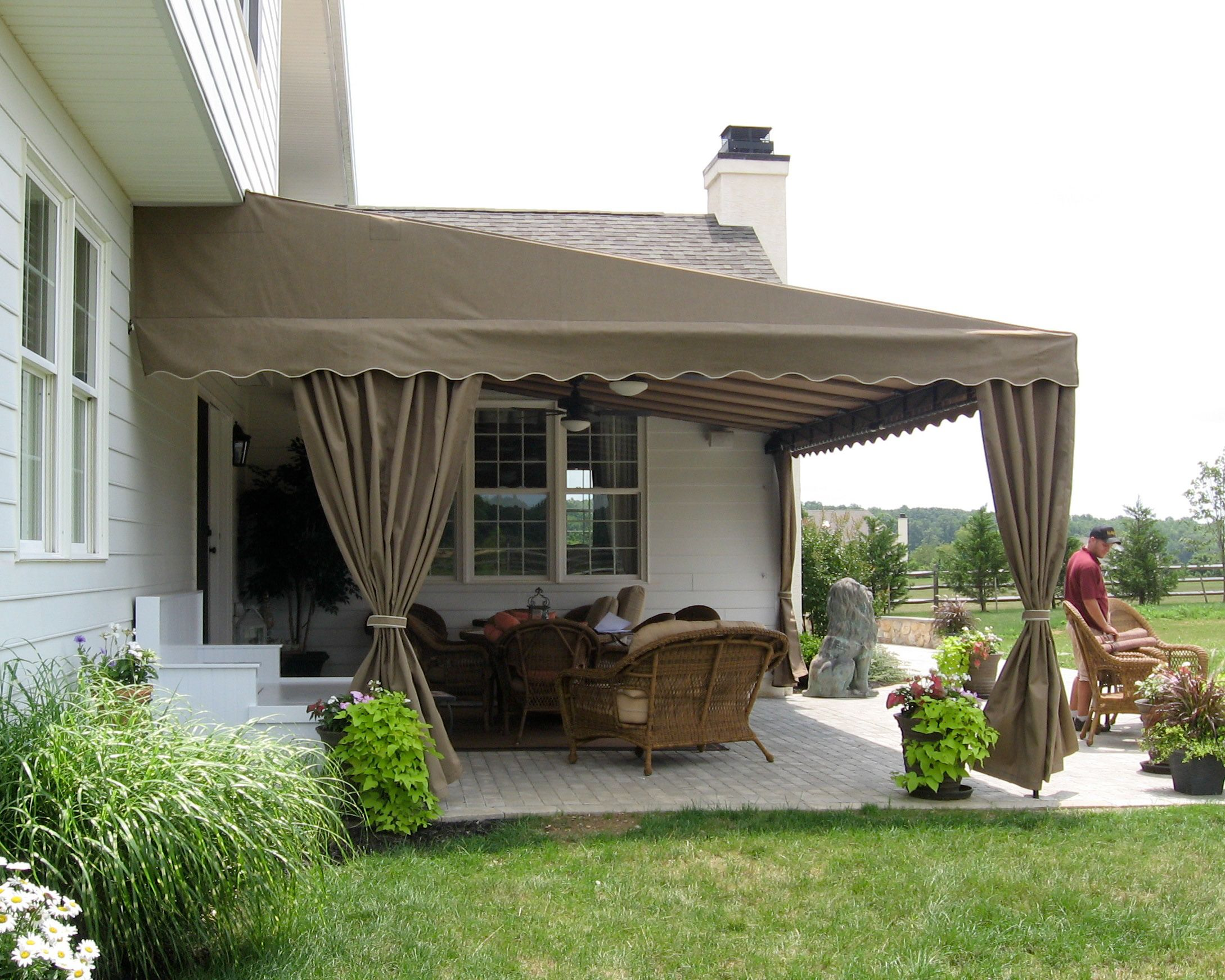 Residential Deck Or Patio Awning Deck Awning Outdoor Living