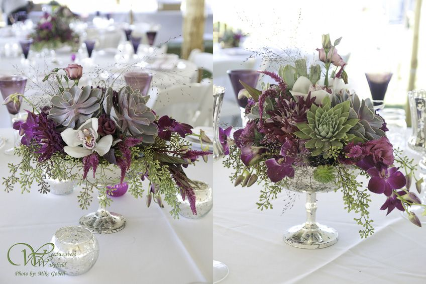 Oni And Josh At Fort Adams Weedweavers Of Wakefield Wedding Flowers Table Decorations Featured Wedding