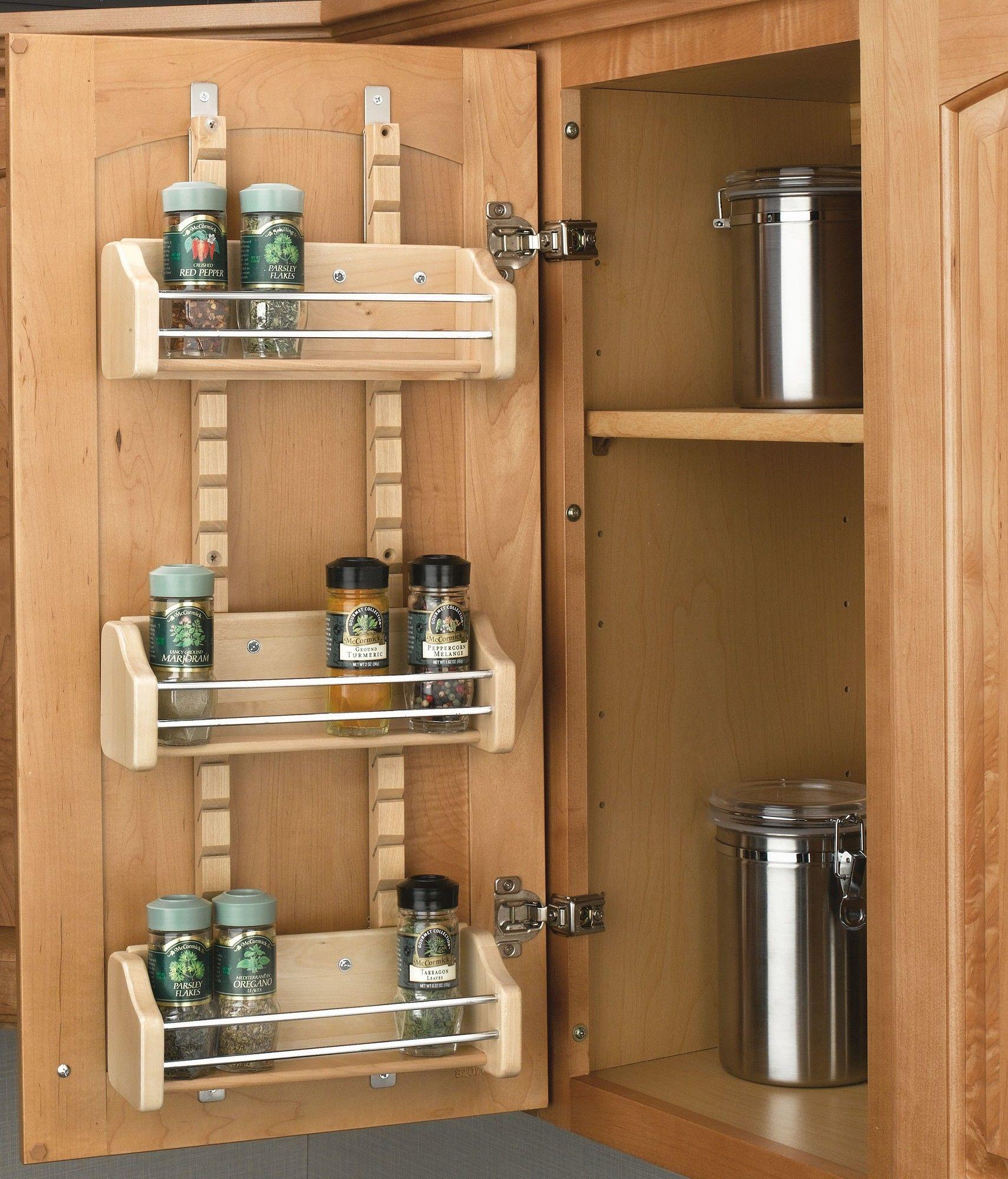 Spice Jar And Rack Set Door Mounted Spice Rack Wood Spice Rack Kitchen Cabinet Organization