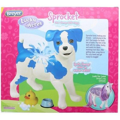 Breyer Lucky Acres Sprocket Color Change Bath Puppy Kids Toys