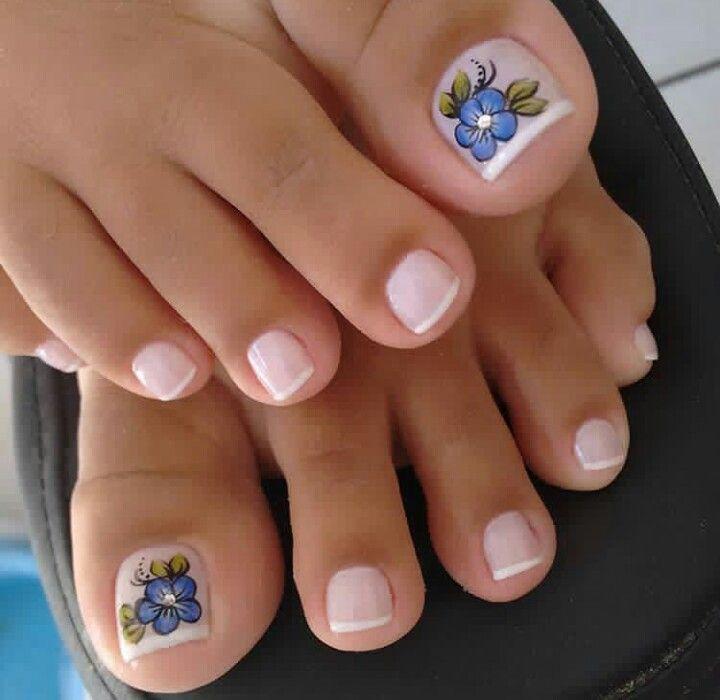 Pin de maria esther bonilla torres en uñas pies | Pinterest ...
