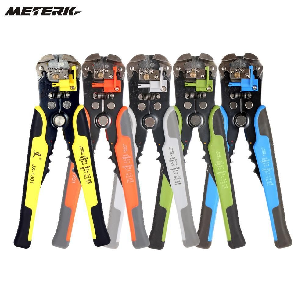 Meterk Cable Wire Stripper Automatic Crimping Tool Peeling Pliers ...