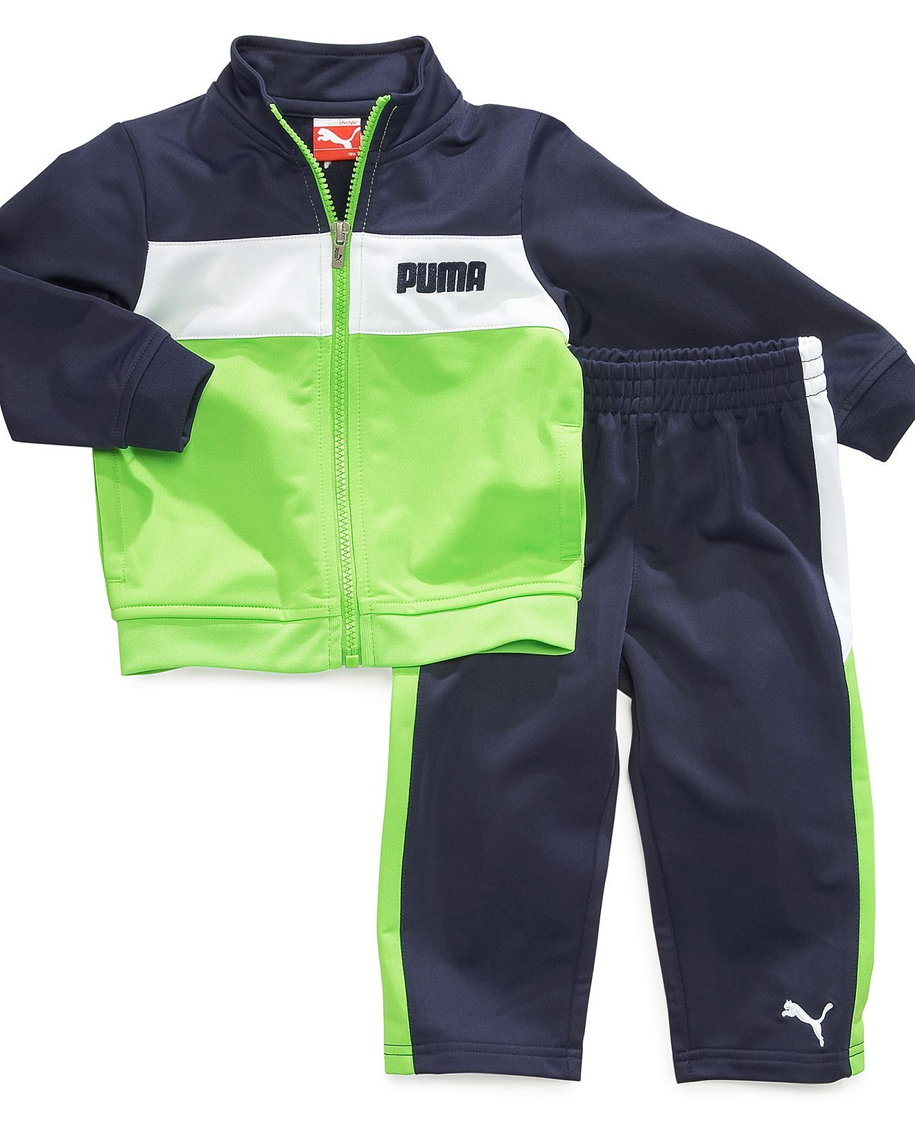 Puma Baby Set Baby Boys 2 Piece Striped Tricot Jacket and Pants