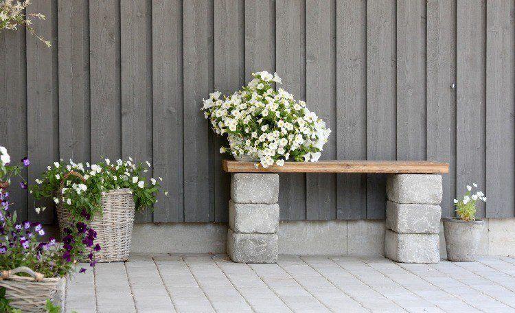 Bloc béton pour la déco de jardin en 30 idées créatives | Designs ...