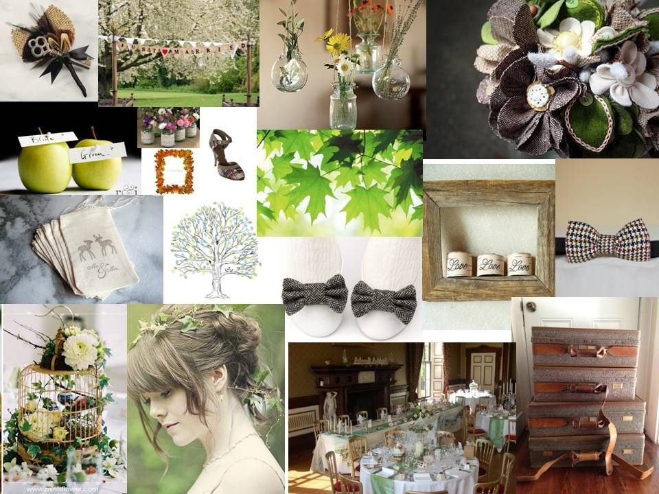 Vintage tweed woodland wedding