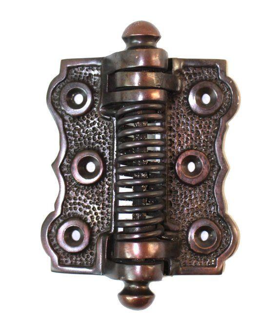 Screen Door Spring Hinge Bronze Ovr Brass Vintage Victorian Hardware  Restoration