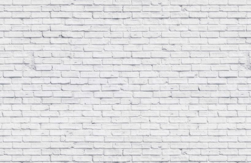 White Brick Wallpaper Clean White Design Muralswallpaper
