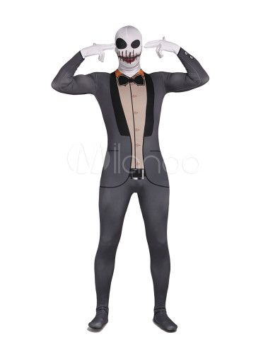 Skeleton Unisex Lycra Spandex Cool Multicolor Zentai Suits - Milanoo.com #skeleton #cool #multicolor #zentai #halloween #milanoo
