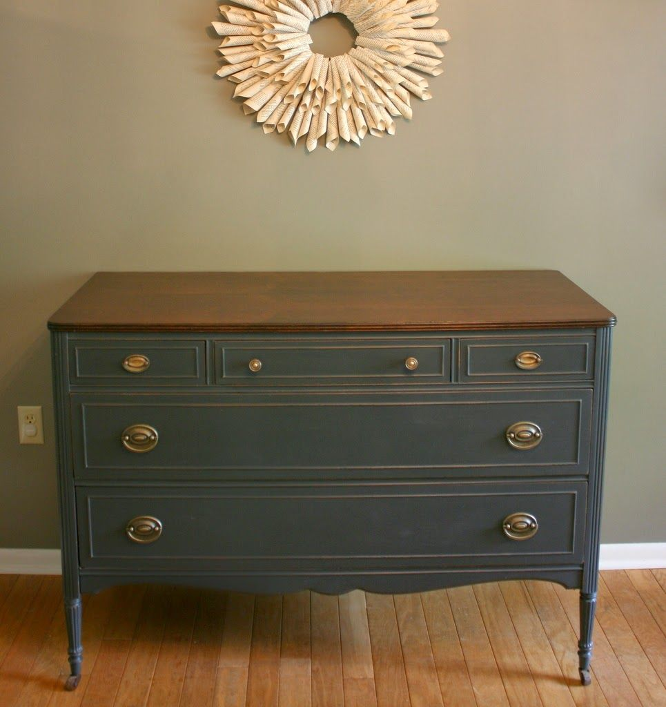 No 78 Charcoal Gray Antique Dresser Refinishing Furniture Furniture Distressed Furniture