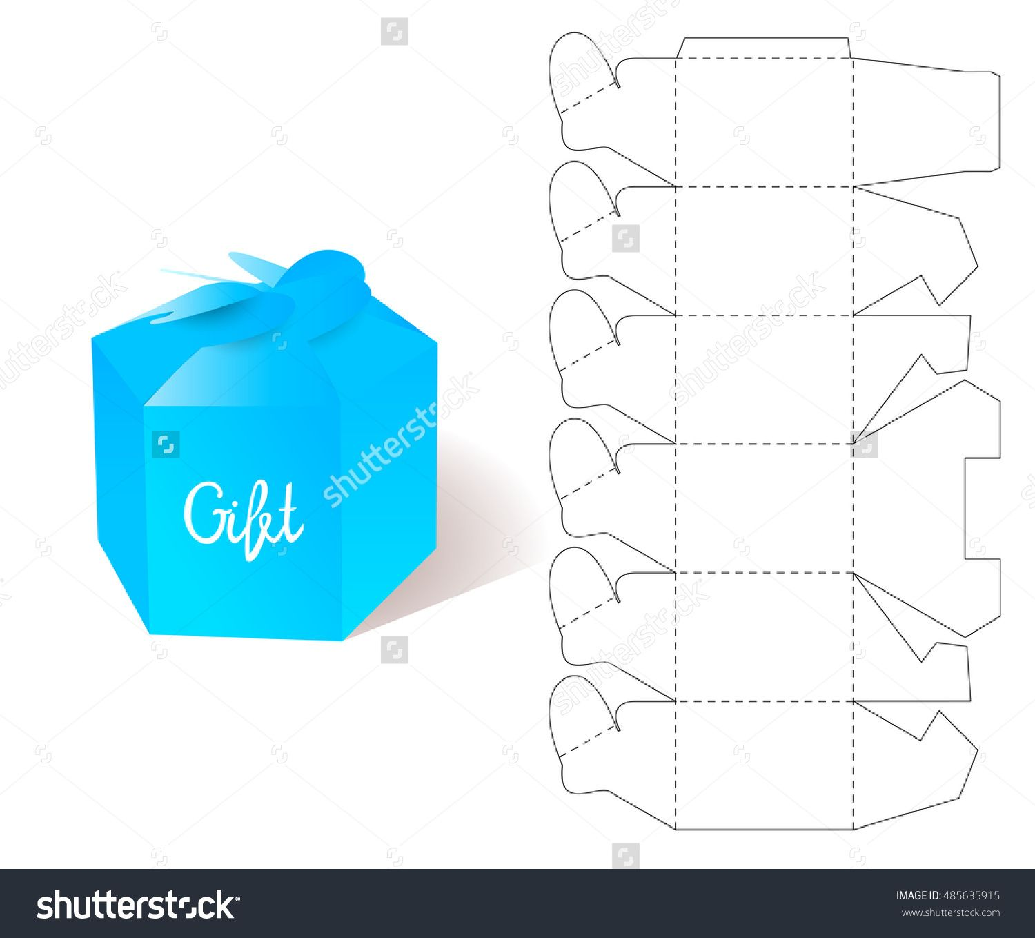 Box paper blueprint gift box craft mockup template retail paper blueprint gift box craft mockup template retail cardboard with die malvernweather Choice Image