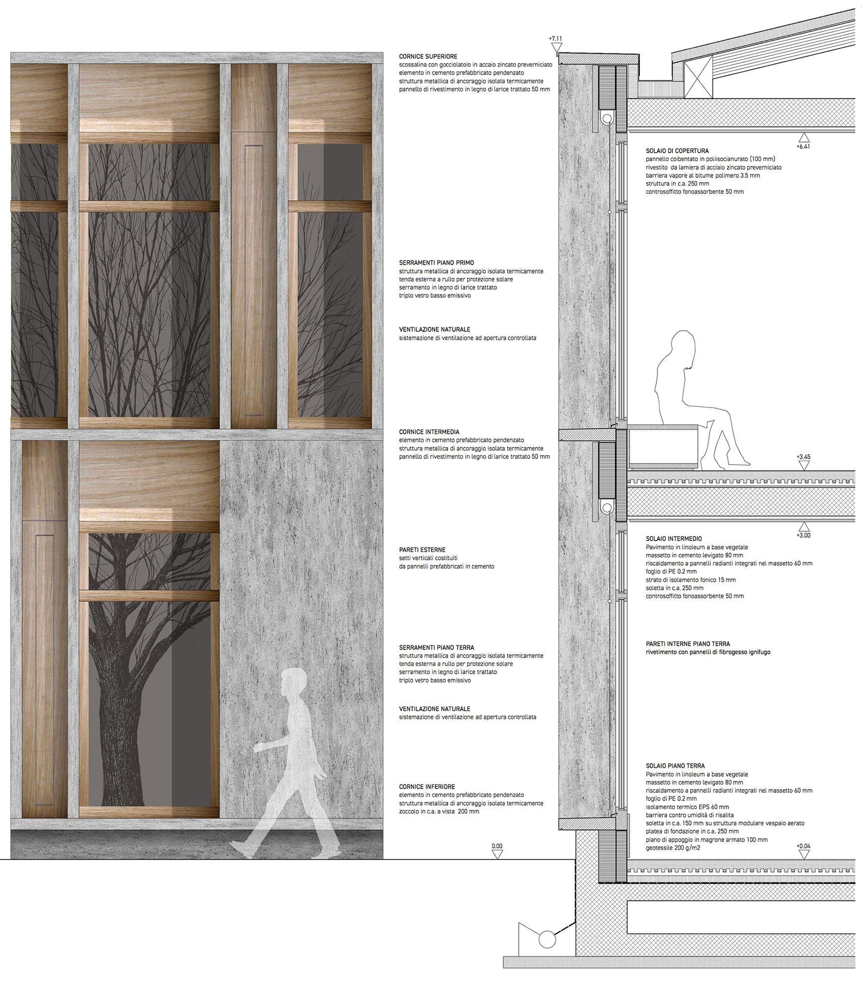 Tavole Legno Per Rivestimento Pareti scuola media bagnata details pinterest holzfassade fassaden