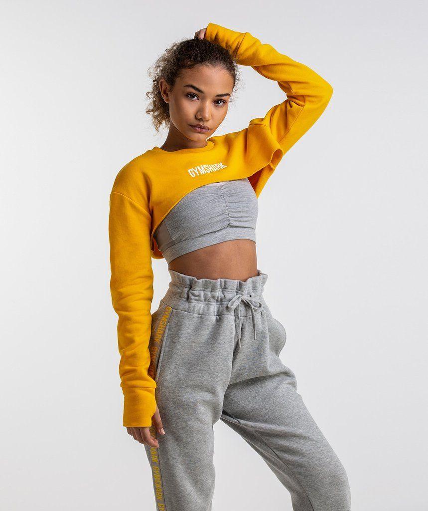 15ec0b5e266 Gymshark Super Cropped Sweater - Citrus Yellow
