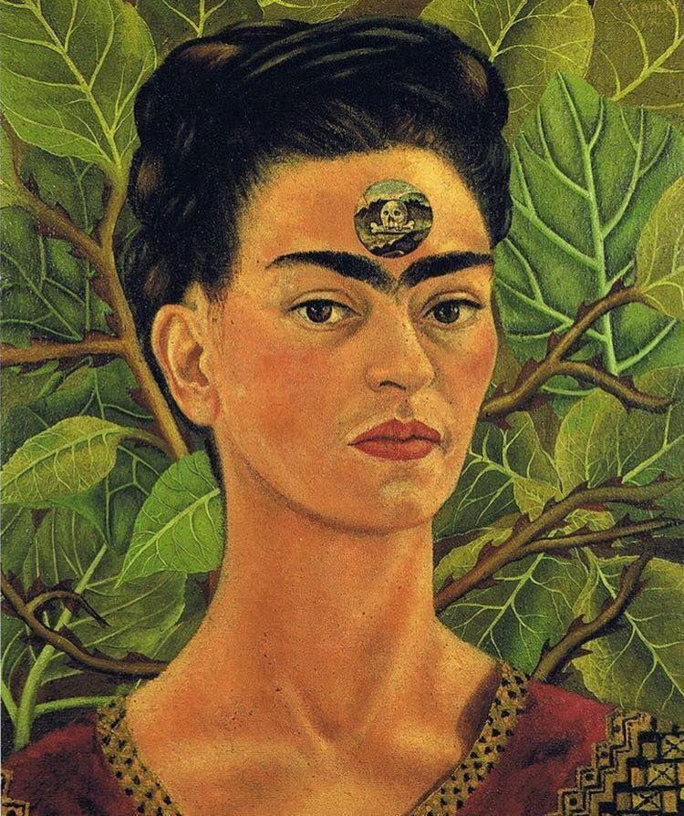 """thinking of death"". (1943)  #FridaArt #FridaKahlo"