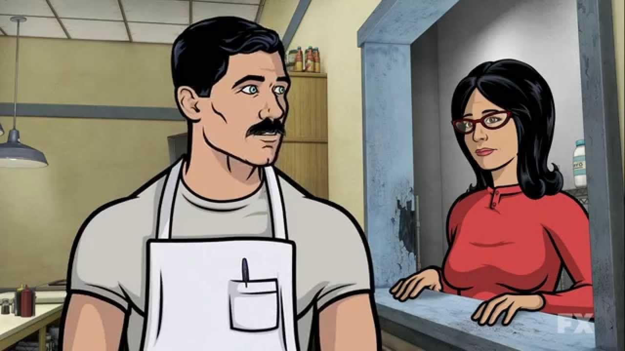 Archer style porn cartoon