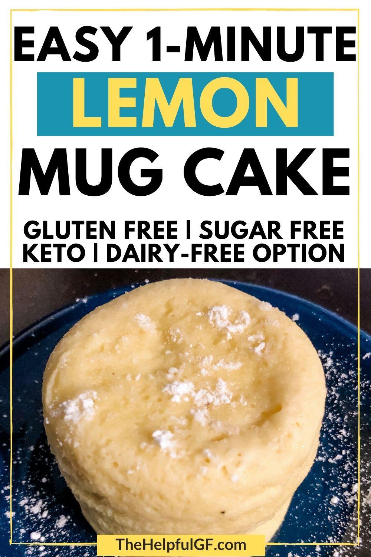 Grain Free Lemon Mug Cake for One   Recipe in 2020 ...