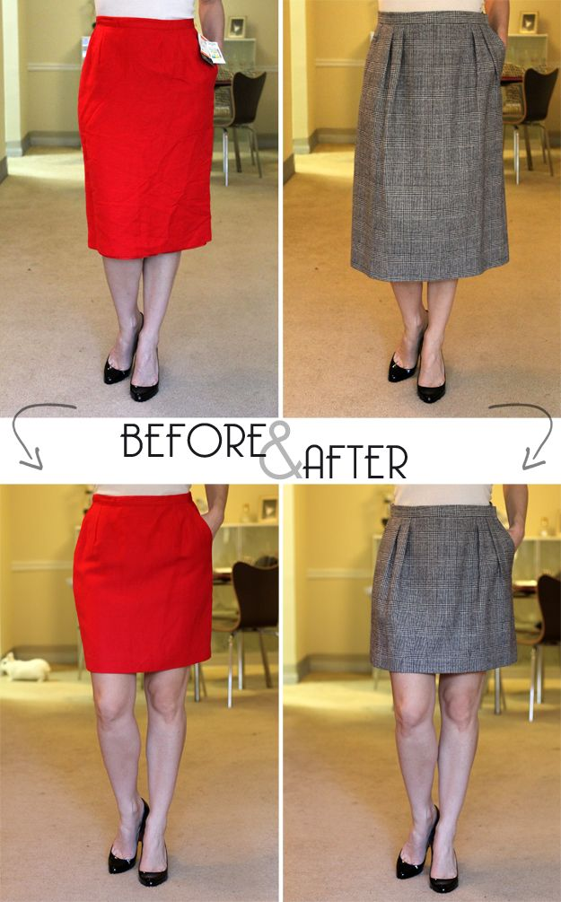 How to hem a skirt - I have a few Goodwill finds that could use it!